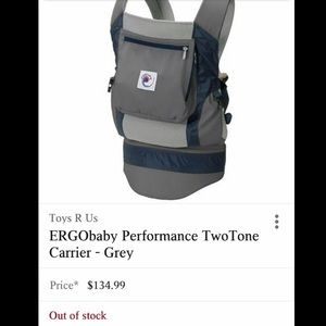 Ergobaby Performance two tone carrier blue gray